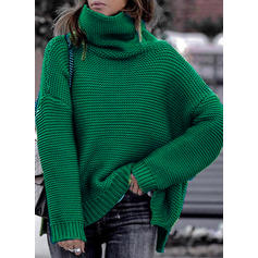 Egyszínű Bordázott Garbó πουλόβερ