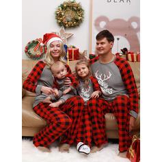 Ren Literă Imprimeu De Familie Pijamale De Crăciun