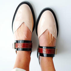 Mulheres PU Sem salto Sem salto com Fivela sapatos