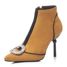 Dla kobiet Zamsz Obcas Stiletto Czólenka Kozaki Z Pozostałe obuwie