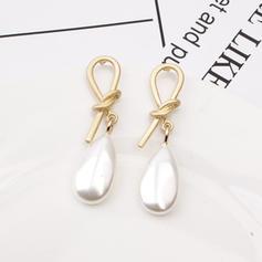 élégant Alliage De faux pearl Femmes Boucles d'oreilles