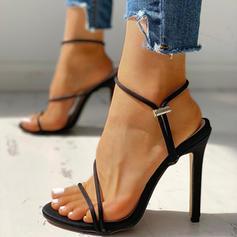 Donna Tessuto Tacco a spillo Sandalo Stiletto Punta aperta con Altrui scarpe