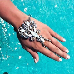 Einzigartig Legierung mit Nachahmung Kristall Frauen Strandschmuck