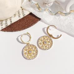Einzigartig Glänzende Prächtig Exquisiten Legierung Strasssteine Ohrringe