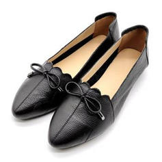 Women's Real Leather Flats With Bowknot shoes