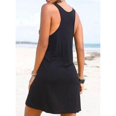 Print U-Neck Fresh Cover-ups Swimsuits