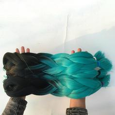 Suoraan Synteettiset hiukset Hiusnauhat (Myydään yhtenä kappaleena)