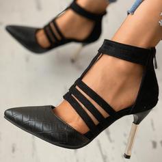 Жіночі ПУ Шпилька Закритий палець з Блискавка взуття