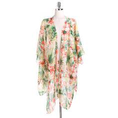 Floral Poids léger/mode/simple Poncho de plage