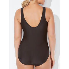 Galaxy Strap Elegant Plus Size One-piece Swimsuits