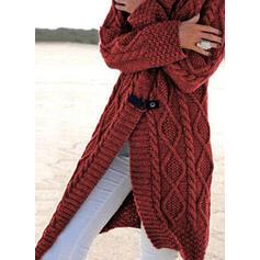 Solido Cavo Knit Casual Lungo Cardigan