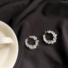 Glänzende Legierung mit Imitation Steine Ohrringe