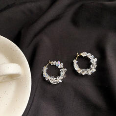 Shining Alloy With Imitation Stones Earrings