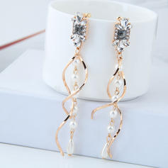 Exquisite Alloy Rhinestones Imitation Pearls With Imitation Pearl Rhinestone Women's Fashion Earrings (Set of 2)