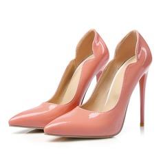 Mulheres Couro Brilhante Salto agulha Bombas com Outros sapatos