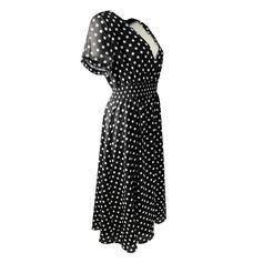 Groszki Krótkie rękawy W kształcie litery A Długośc do kolan Casual/Elegancki Sukienki