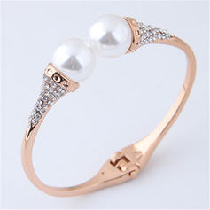 Exquisite Alloy Rhinestones Imitation Pearls With Imitation Pearl Women's Bracelets (Sold in a single piece)