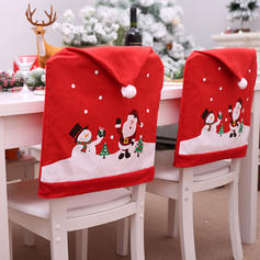 Merry Christmas Snowman Santa Non-Woven Fabric Chair Cover