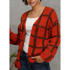 Cable-knit Grid Chunky knit Cardigan