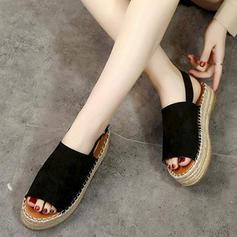 Vrouwen PU Flat Heel Sandalen Flats Peep Toe met Gesp schoenen