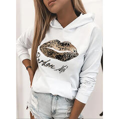 leopárd Flitterek Hosszú ujjú Kapucni