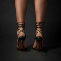Women's PU Stiletto Heel Sandals With Lace-up shoes