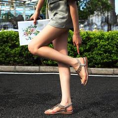 Frauen PU Flascher Absatz Sandalen Peep Toe mit Strass Schuhe