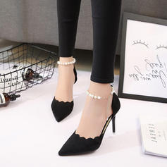Women's PU Stiletto Heel Pumps With Imitation Pearl shoes