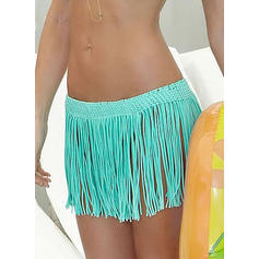 Solid Color Bottom Bohemian Bottoms Swimsuits