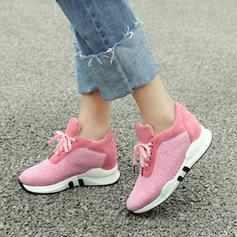 Donna Tessuto Casuale All'aperto Escursionismo con Allacciato scarpe