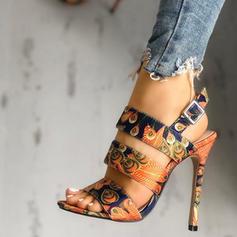 Dla kobiet PU Obcas Stiletto Sandały Z Klamra obuwie