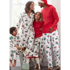 De Kerstman Rendier Print Voor Gezinnen Kerst Pyjamas