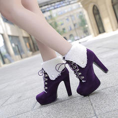 Femmes Suède Talon stiletto Escarpins Plateforme Bottines avec Dentelle chaussures