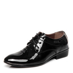 Lace-up Casual Work Patent Leather Men's Men's Oxfords