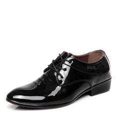 Cordones Casual Trabajo Piel Brillante Hombres Zapatos Oxford de caballero