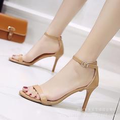 Femmes PU Talon stiletto Sandales Escarpins avec Boucle chaussures
