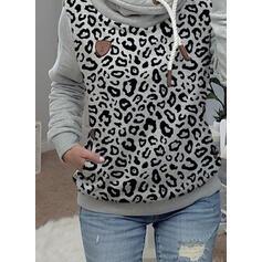 luipaard Zakken Lange Mouwen Hoodie