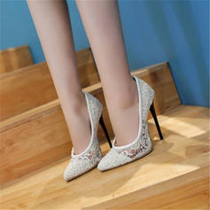 Donna Pizzo Tacco a spillo Stiletto con Cava-out scarpe