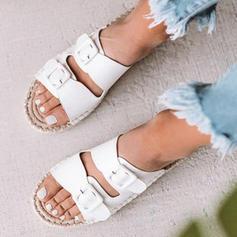 Dámské PU Placatý podpatek Sandály Boty Bez Podpatku S Přezka obuv