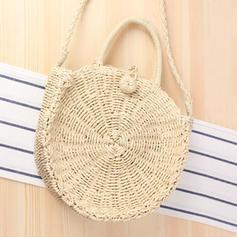 Hueco Cuerda de papel Bolso de Hombro/Bolsas de playa/Bolsas de cubo
