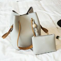 Unique/Solid Color PU Crossbody Bags/Shoulder Bags/Bucket Bags