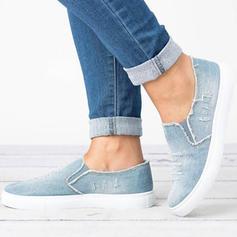 Kvinnor Jeans Flat Heel Platta Skor / Fritidsskor Stängt Toe med Andra skor