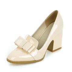 Femmes Cuir verni Talon bottier Escarpins Bout fermé chaussures