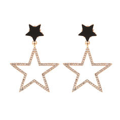 Star Shaped Alloy Rhinestones Women's Earrings