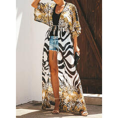 Stripe Print Sexy Boho Cover-ups Swimsuits