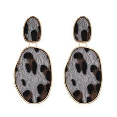 Leopard Legierung Frauen Art-Ohrringe (Sold in a single piece)