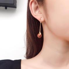 Feuilles en forme Alliage Résine avec Résine Boucles d'oreilles