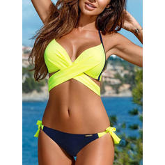 Low Waist Neon Halter Sexy Bikinis Swimsuits