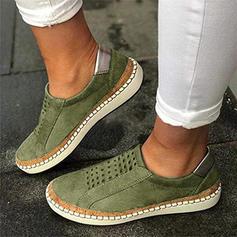 Donna PU Casuale con Cava-out scarpe