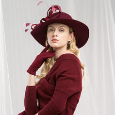 Ladies' Beautiful/Elegant/Nice Wool With Feather Floppy Hats/Tea Party Hats